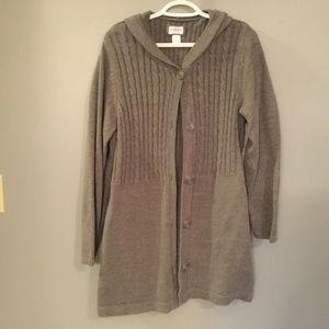 Motherhood maternity gray button down sweater